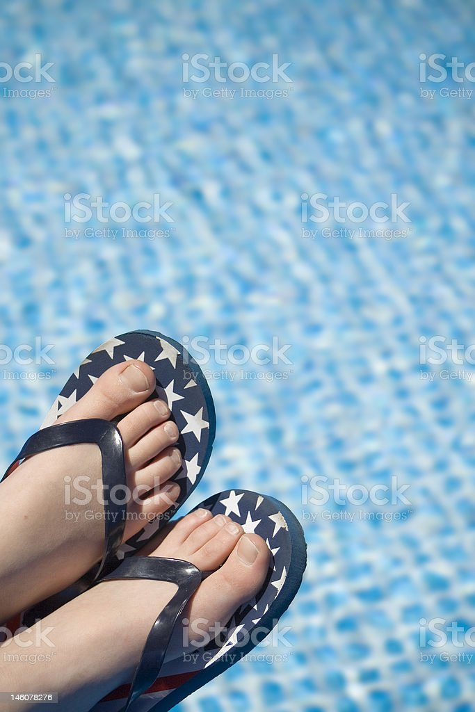 Fourth of July by the Pool stock photo