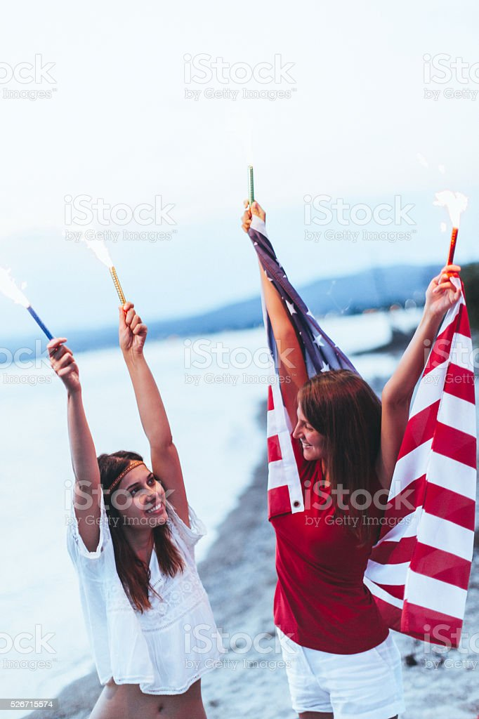 Fourth of July celebration stock photo