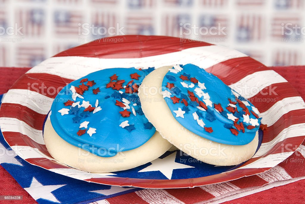 Fourth of July cookies royalty-free stock photo