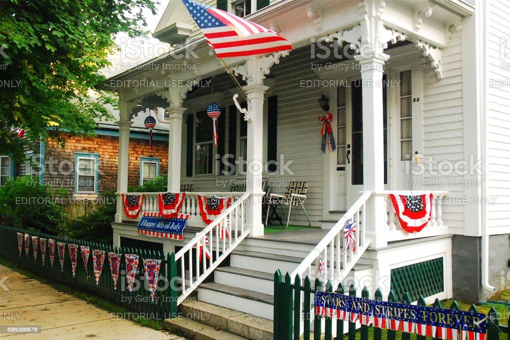 Fourth of July Decor stock photo