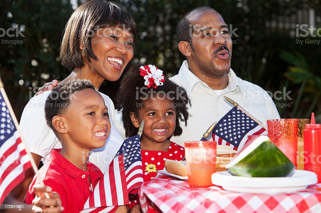 Fourth of July family picnic stock photo