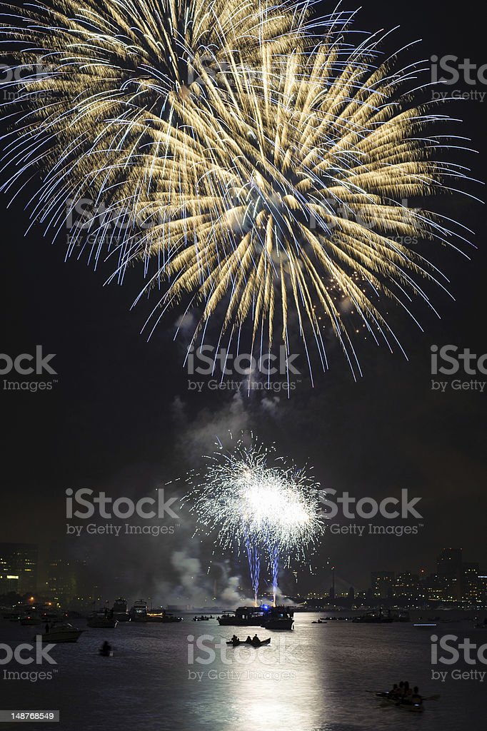 Fourth of July Fireworks Boston stock photo