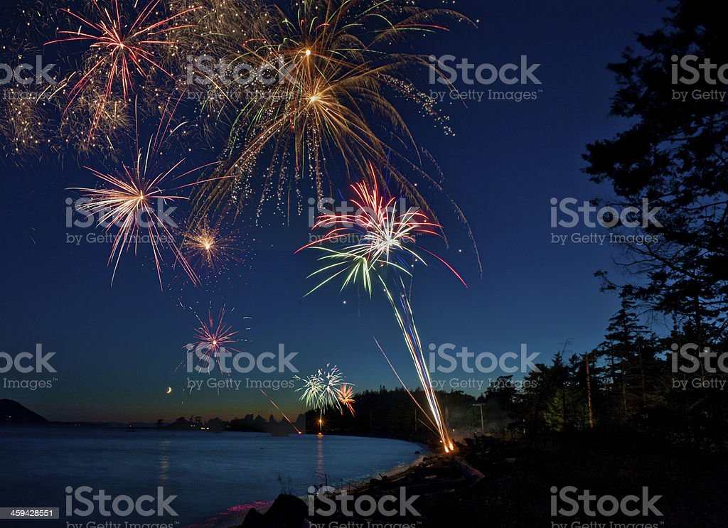 Fourth of July Fireworks. stock photo