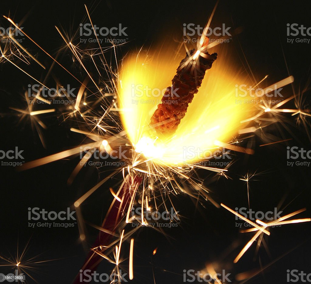 Fourth of July Fireworks Sparklers Flaming fourth of July fireworks sparklers. Beauty In Nature Stock Photo