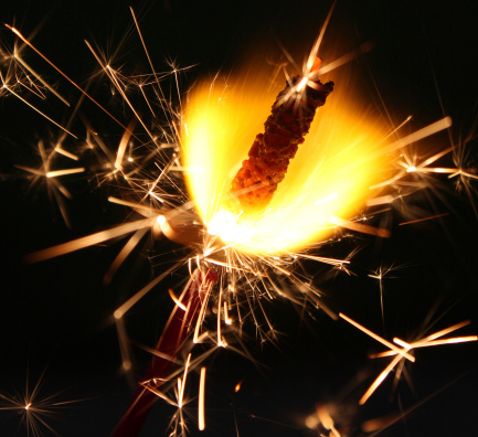 Fourth Of July Fireworks Sparklers Stock Photo - Download Image Now