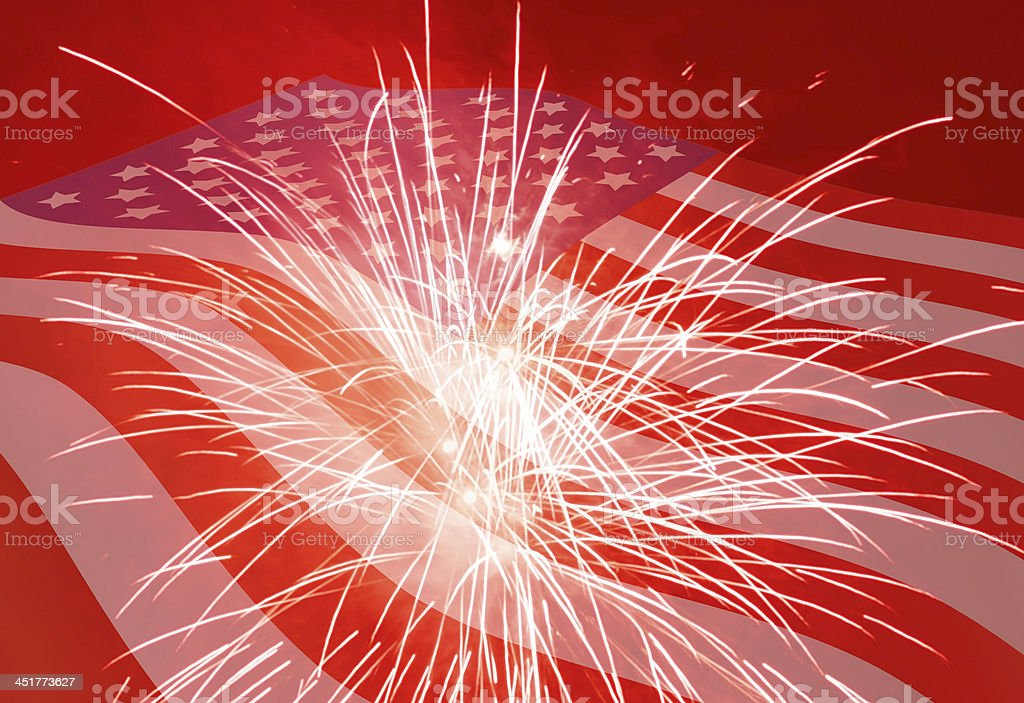 Fourth of July holiday background stock photo