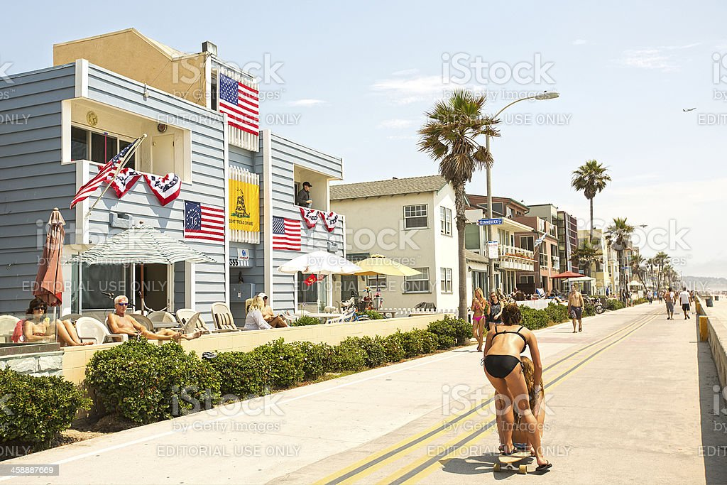 Fourth of July Holiday Scene stock photo