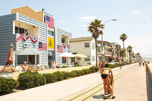 Fourth of July Holiday Scene stock photo