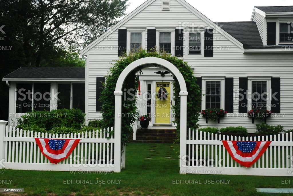 Fourth of July Home stock photo