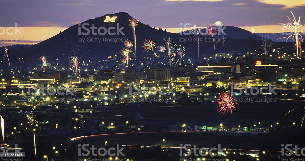 Fourth of July in Butte, Montana royalty-free stock photo