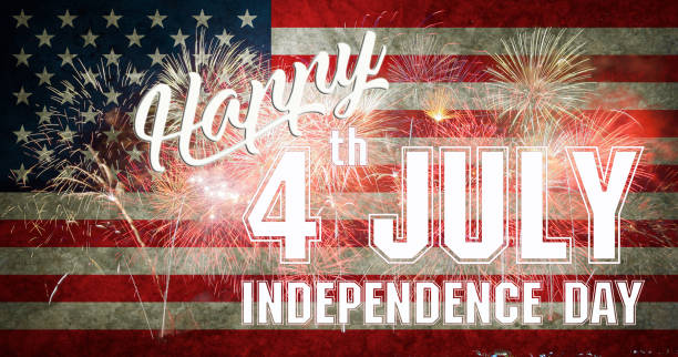 fourth of july independence day of the usa - happy 4th of july stock pictures, royalty-free photos & images