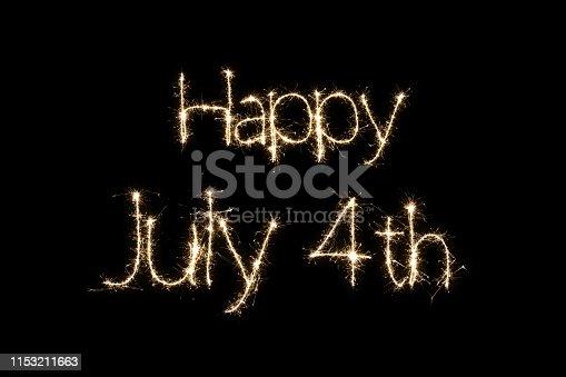Fourth of July Independence day sparkler fireworks