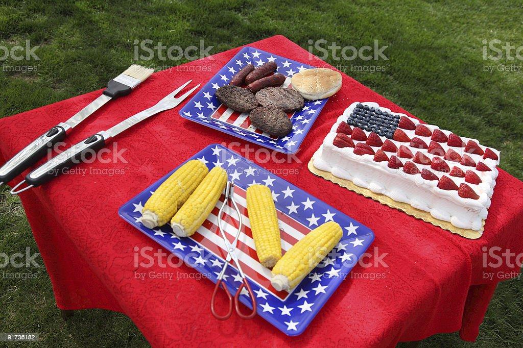 4 th of July comida - foto de acervo