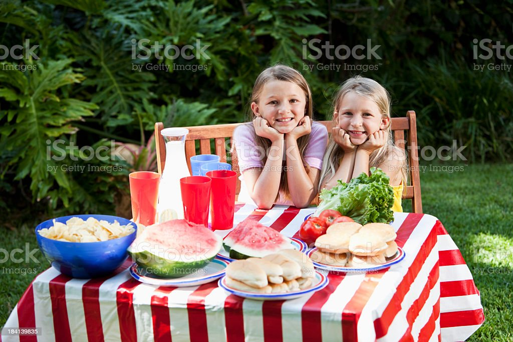 Fourth of July or Memorial Day picnic royalty-free stock photo