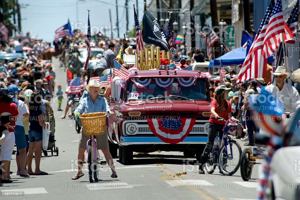 Fourth of July Parade stock photo