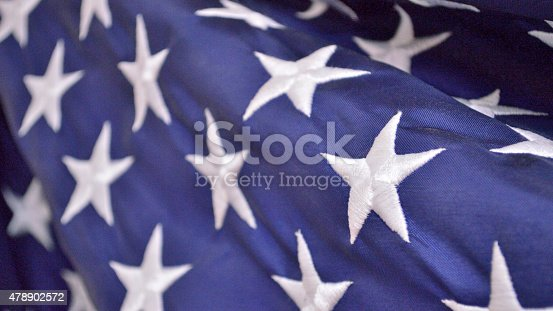 istock Fourth of July patriotic background (american flag closeup) 478902572