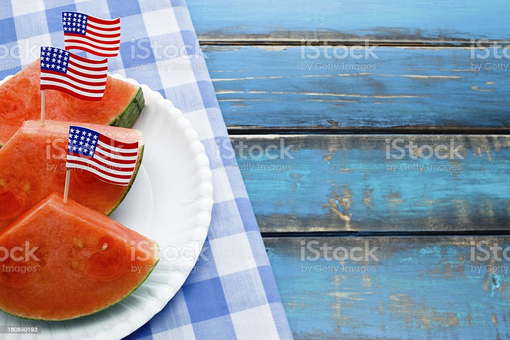 Fourth of July Picnic stock photo