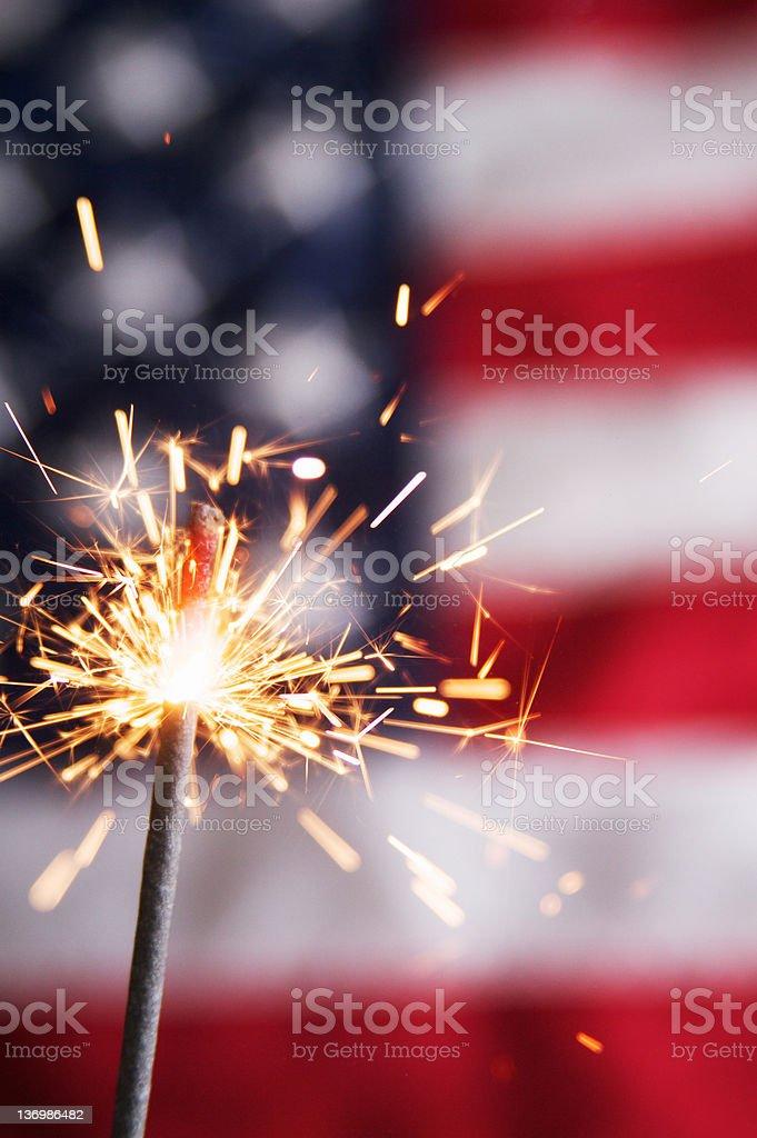 Fourth of July Sparkler stock photo