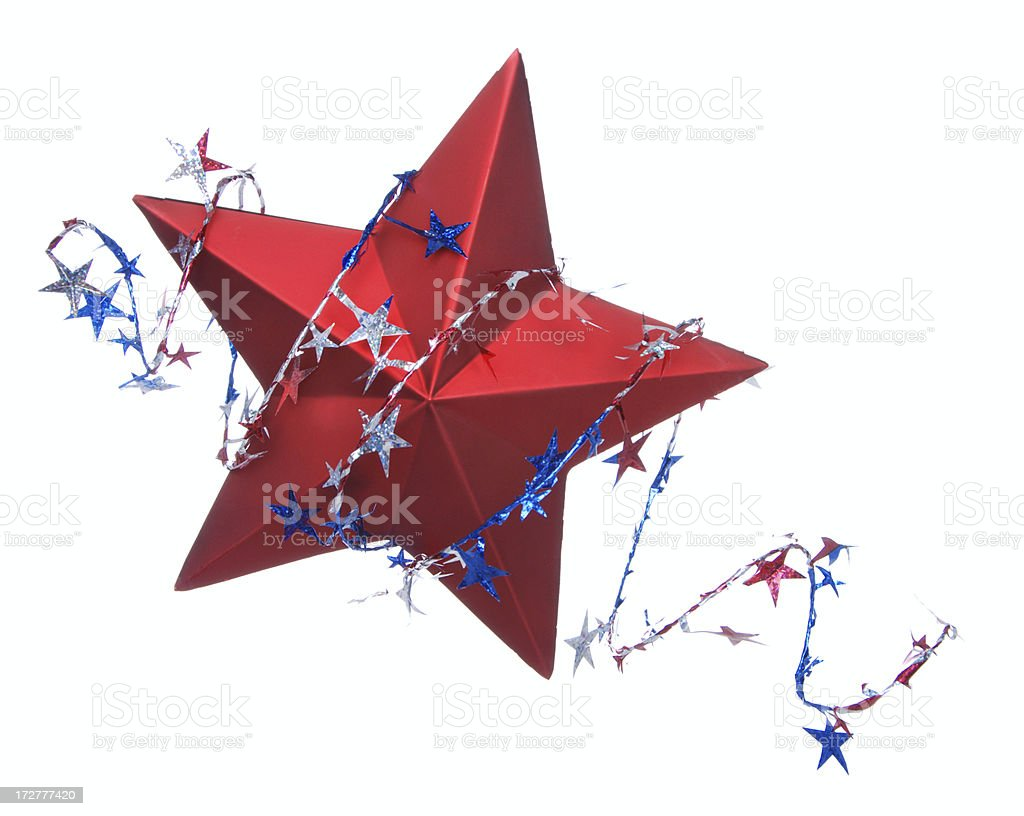 Fourth Of July Star stock photo