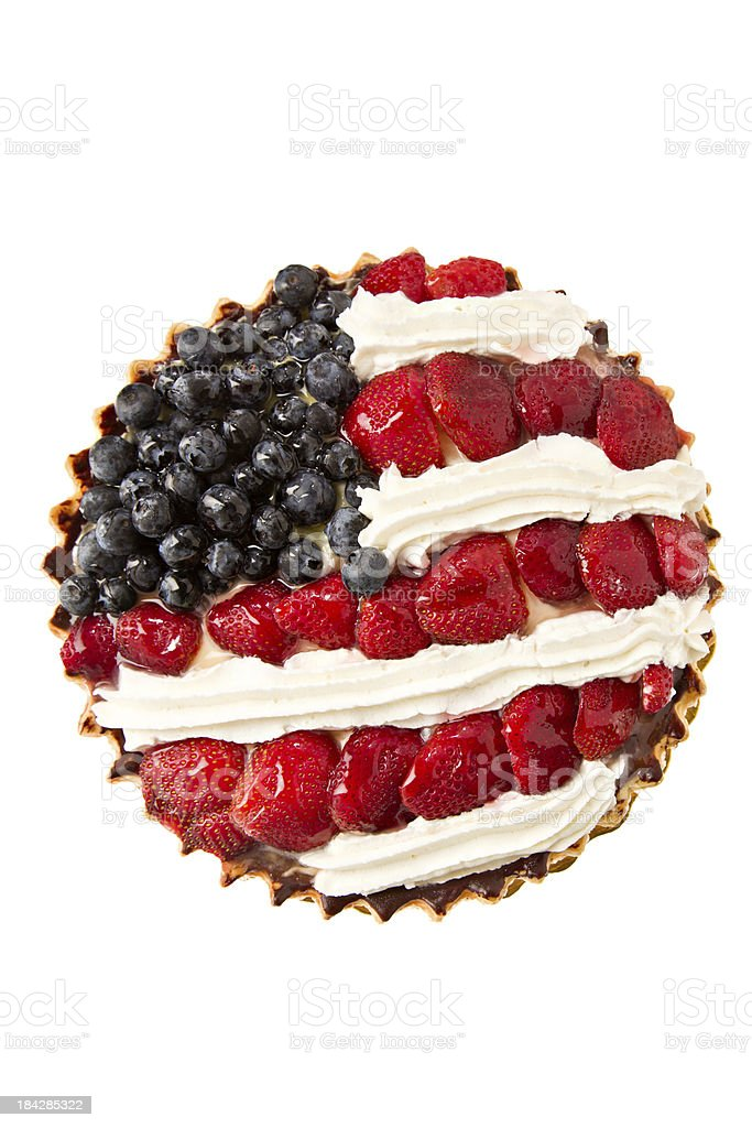 Fourth Of July Tart stock photo