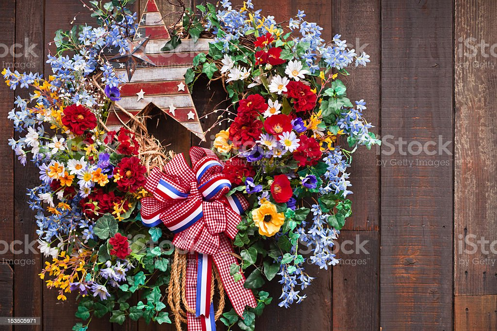 Fourth of July Wreath royalty-free stock photo