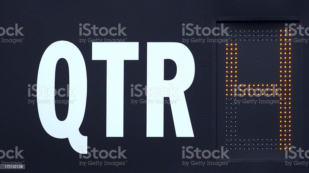 Fourth Quarter royalty-free stock photo