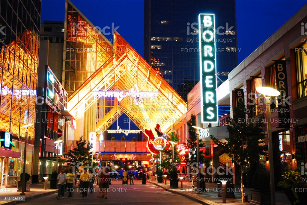 Fourth Street Live, Louisville stock photo