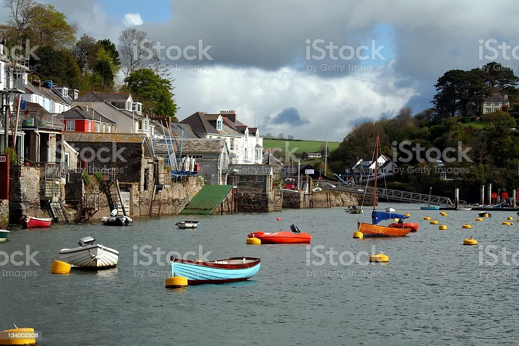Fowey bay royalty-free stock photo