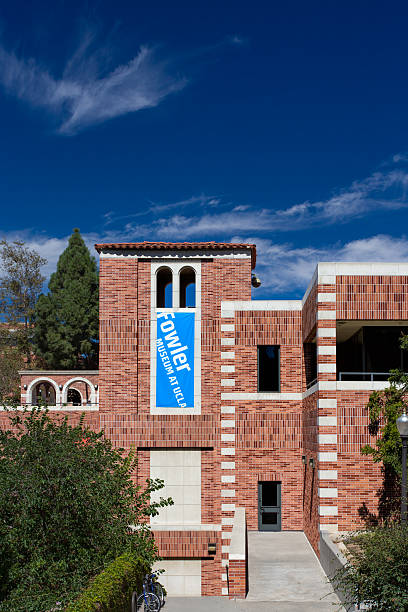 Fowler Museum at UCLA Los Angeles, United States - October 4, 2014: Fowler Museum on the campus of UCLA. UCLA is a public research university located in the Westwood neighborhood of Los Angeles, California, United States. ucla medical center stock pictures, royalty-free photos & images
