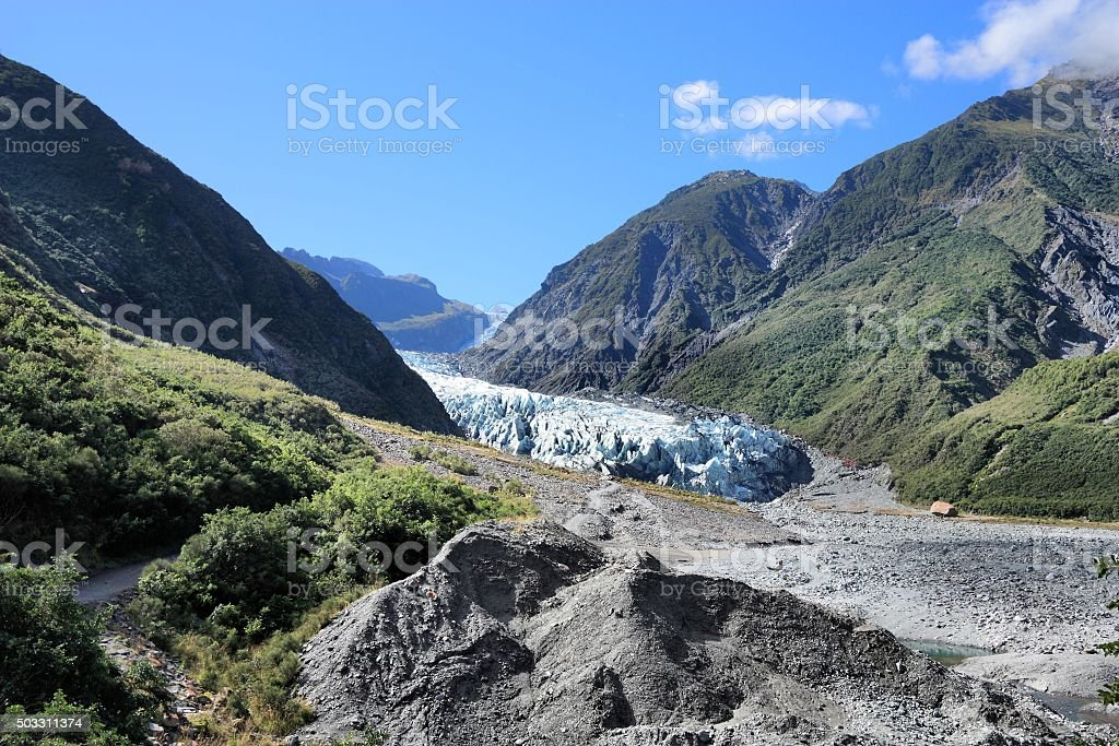 Fox Glacier, New Zealand stock photo