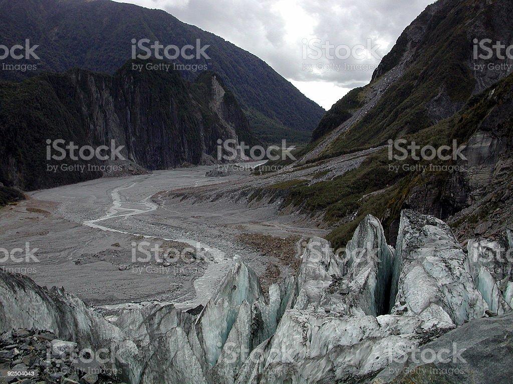 Fox Glacier New Zealand royalty-free stock photo