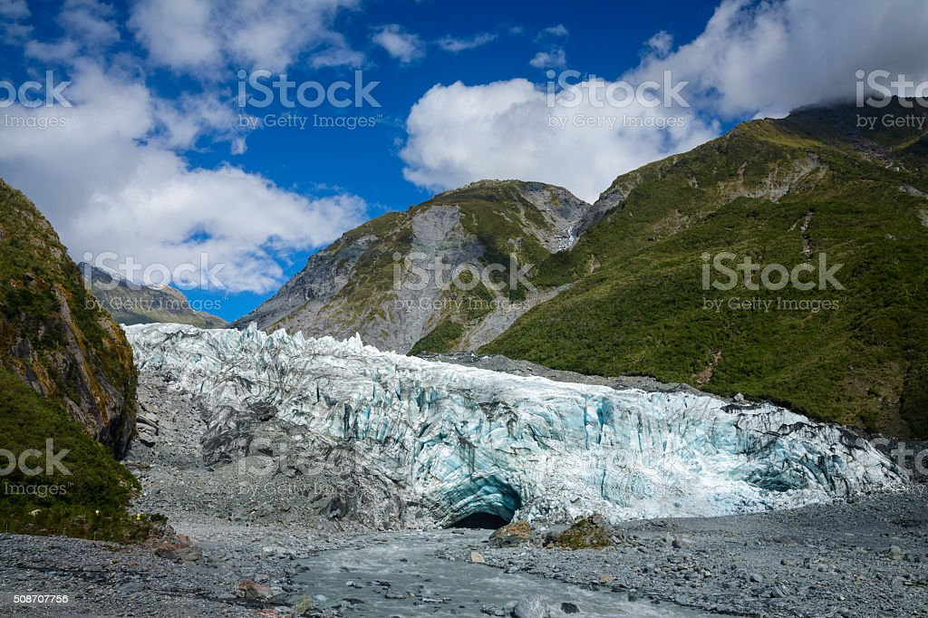 Fox Glacier terminal South Island New Zealand stock photo