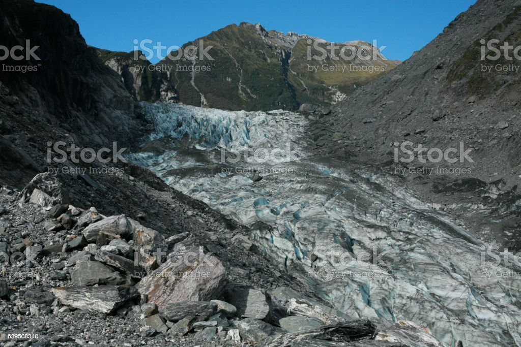 Fox Glacier, West Coast, New Zealand stock photo