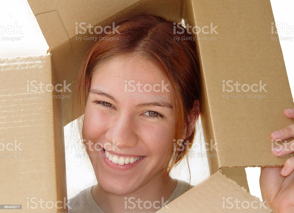 Fox in a box - Royalty-free Adolescence Stock Photo