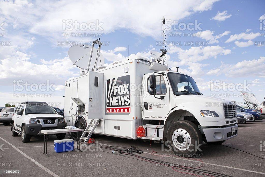Fox News Satellite Truck stock photo