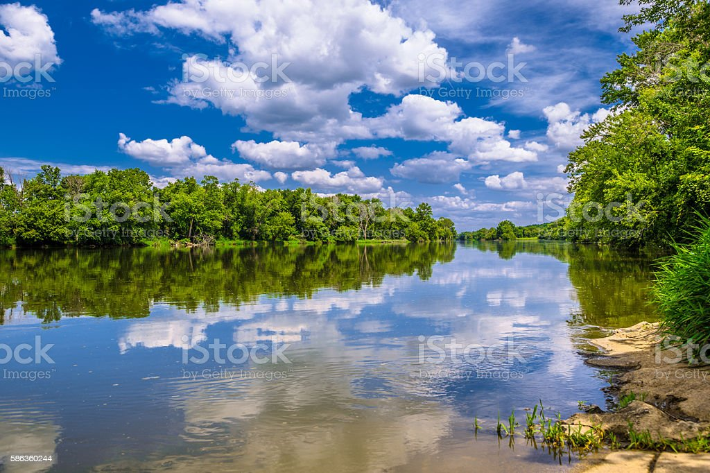 Fox River stock photo