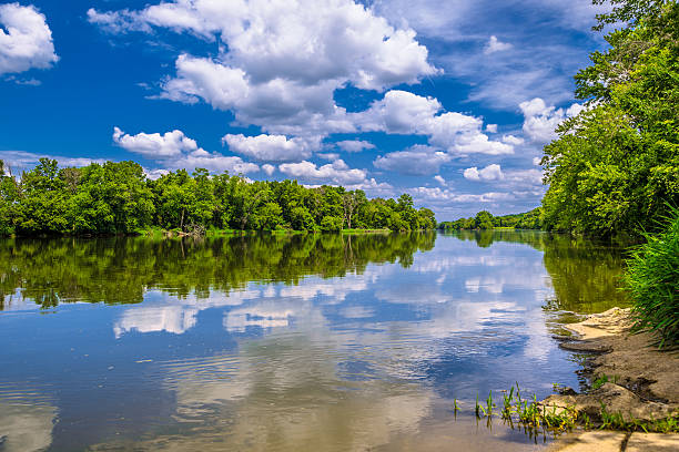 Fox River stock photo