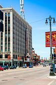 Detroit, MI, USA - July 16, 2006:: The famous Fox Theater on Woodward Ave in downtown Detroit MI