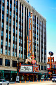 Detroit, MI, USA - July 16, 2006: The famous Fox Theatre on Woodward Ave in downtown Detroit MI