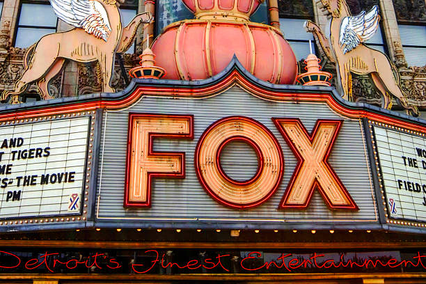 Fox Theater in Downtown Detroit stock photo
