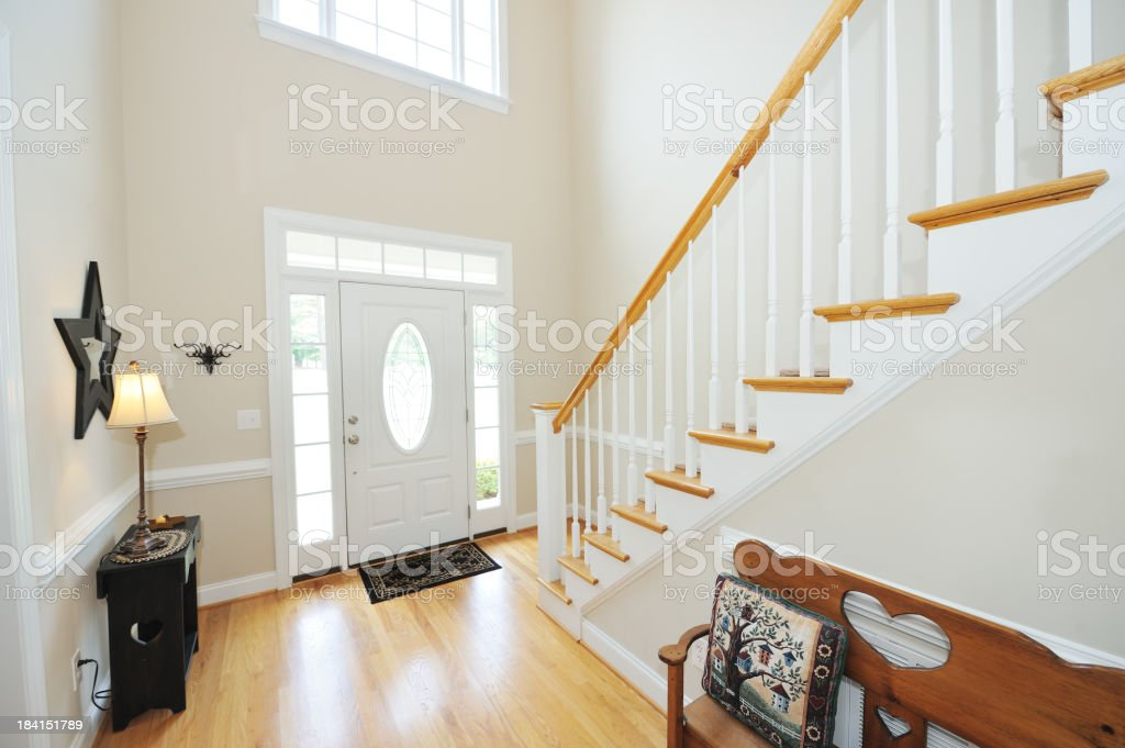 Foyer and Stairs royalty-free stock photo