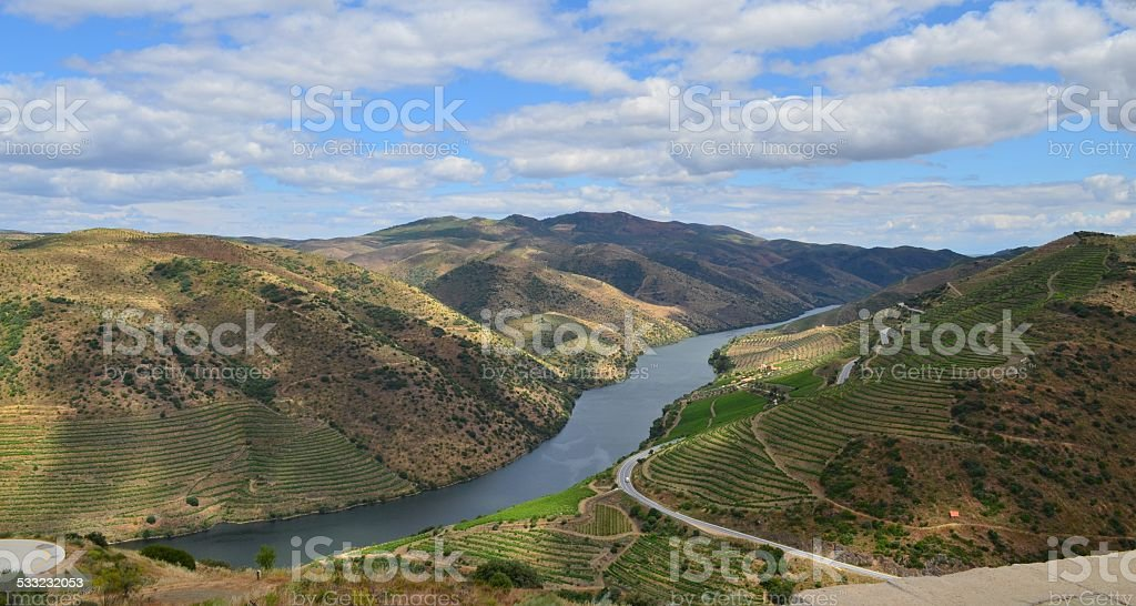 Foz Coa, Portugal - Douro Valley stock photo