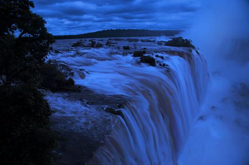 Foz do Iguaçu by night, Parana State, Brazil