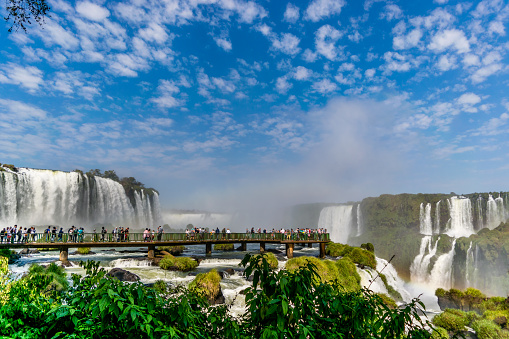 Image of a sunny day in Iguazu Falls, State of Parana, Brazil.