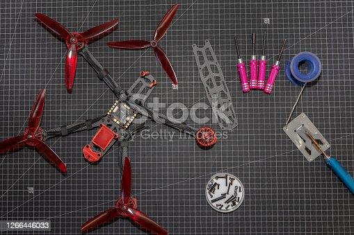 fpv race drone construction