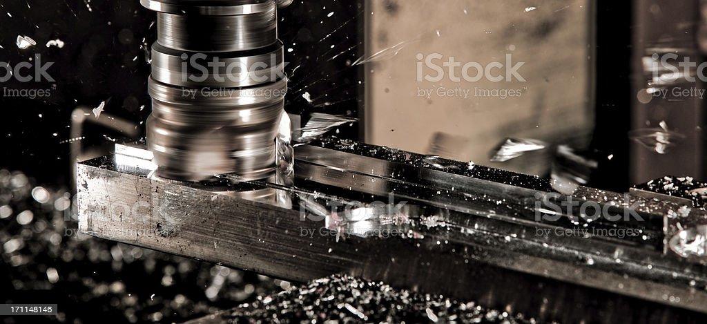 CNC Fräser in Arbeit royalty-free stock photo