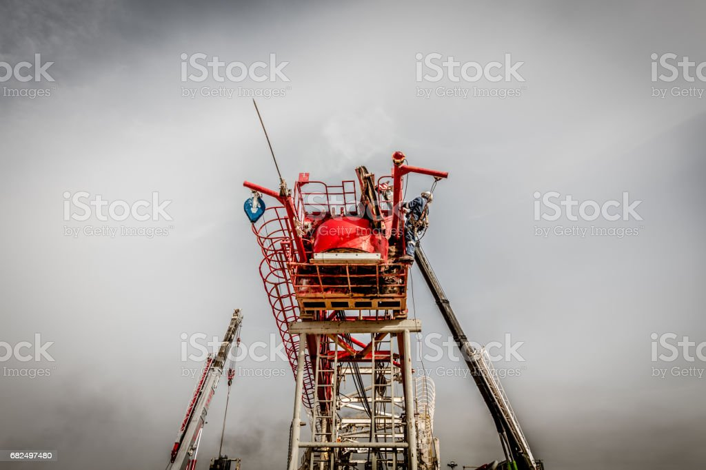 Fracking Oil Rig Lizenzfreies stock-foto