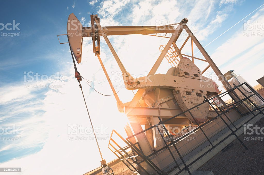 Fracking Oil Well stock photo