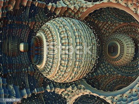 istock Fractal 3D background, abstract 3D illustration, element for design 1155828192