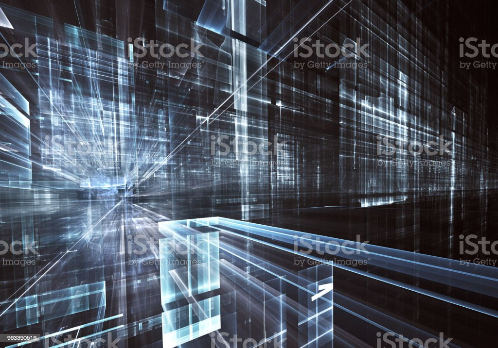 Fractal art - computer image, technological background - Zbiór zdjęć royalty-free (Abstrakcja)